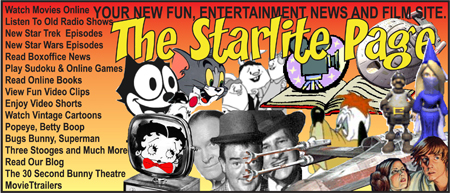 The Starlite Page is full on fun film entertainment and news, vintage cartoons, shorts and vitnage movies. Visit it for nostalgia about the Starlite Drive-In Theatre as well. New listings for all Operating Ontario Drive-In Theaters to see what is playing at all of them.